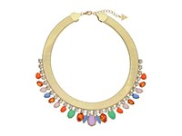 Guess Stone Collar Necklace Gold Multicolor Necklace