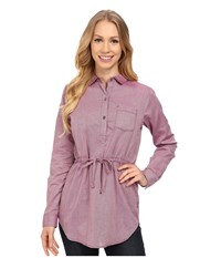 Mountain Hardwear Heralake Long Sleeve Tunic Dark Raspberry Women's Long Sleeve Button Up Red