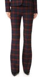 Derek Lam Flare Trousers Red Midnight
