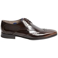 Oliver Sweeney London Buxhall Patent Brogue Derby Shoes Brown