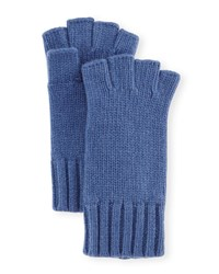 Goodman's Fingerless Cashmere Gloves Indigo