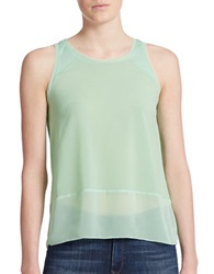 French Connection Sheer Detail Tank Top Mint Mojito