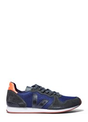 Veja Holiday Low Top Suede Panelled Sneakers Navy