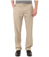 Perry Ellis Solid Performance Portfolio Pant Toast Men's Dress Pants Brown