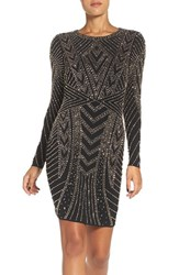 Xscape Evenings Women's Beaded Jersey Body Con Dress