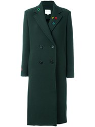 Mira Mikati Lapel Detailing Double Breasted Coat Green