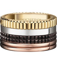 Boucheron Quatre Classique 18Ct Yellow Gold White Gold And Pink Gold Ring