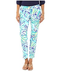 Lilly Pulitzer Kelly Skinny Ankle Pants Pool Blue Stay Cool Women's Casual Pants