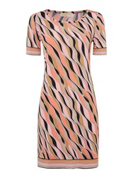 Michael Kors Short Sleeved Printed Dress Peach
