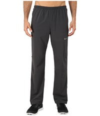 Nike Dri Fit Stretch Woven Pants Anthracite Anthracite Reflective Silver Men's Workout Black