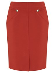 Nougat London Westminster Pencil Skirt Orange