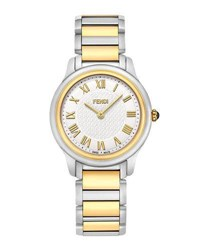 Fendi 32Mm Two Tone Classico Bracelet Watch