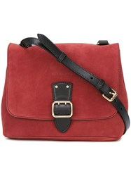 Burberry Adjustable Flap Crossbody Bag Red