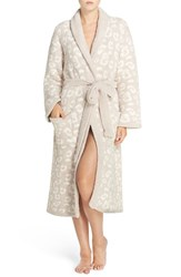 Barefoot Dreamsr Women's Dreams Leopard Plush Robe Stone Cream