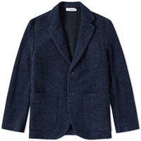 Nanamica Knit Jacket Blue