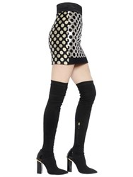 Ungaro Polka Dot Lurex Jacquard Mini Skirt