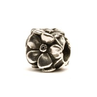 Trollbeads Rose Silver Charm Bead