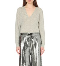 Mcq By Alexander Mcqueen Sequin Embellished Wide Leg Trousers Silver