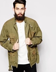 Barbour X Deus Ex Machina Motorcycle Jacket Green