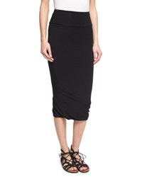 Urban Zen Twist Hem Tube Skirt Black