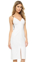 Alice Olivia Sofie Side Strap Dress Off White Black