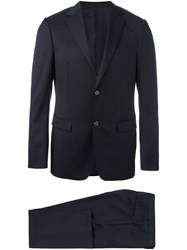 Z Zegna Notched Lapel Formal Suit Black