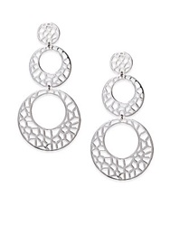 Ron Hami Lace Sterling Silver Cutout Triple Drop Earrings
