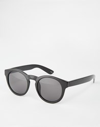 Monki Retro Round Sunglasses Solid Black