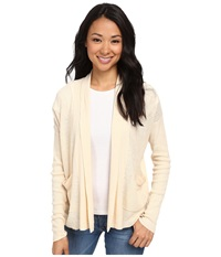 Woolrich Circle Nine Cardigan Linen Women's Sweater Beige