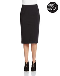 424 Fifth Mid Calf Pencil Skirt Black