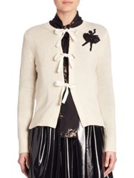Marc Jacobs Ballerina Cashmere Tie Cardigan Ivory