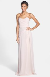 Women's Jim Hjelm Occasions Strapless Crinkle Chiffon Gown