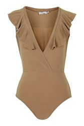 Frill Front Bodysuit By Love Tan