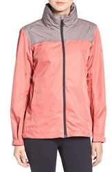 Adidas Women's 'Wandertag' Climaproof Waterproof Jacket Tech Earth Ray Pink