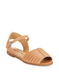 Lucky Brand Channing Huarache Leather Sandals Clay