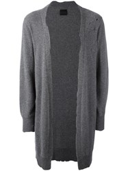Rta Distressed Cardigan Grey