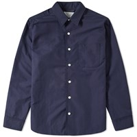 Nanamica Regular Collar Wind Shirt Blue