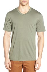 Men's Ibex 'Axis' V Neck Merino Wool Jersey T Shirt