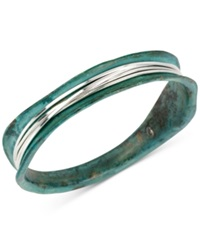 Robert Lee Morris Soho Silver Tone Wire Wrapped Patina Bracelet