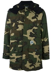 Carhartt Camouflage Print Parka Green