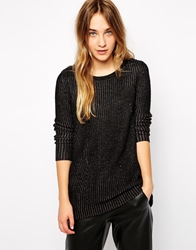 Esprit Ribbed Structured Jumper Black