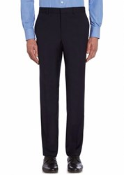 Chester Barrie Ff Tropical Plainweave Trouser Navy