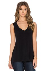 James Perse A Line Viscose Blend Tank Black
