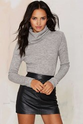 Nasty Gal Glamorous No Chill Ribbed Turtleneck Sweater