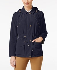 Charter Club Hooded Anorak Jacket Only At Macy's Intrepid Blue