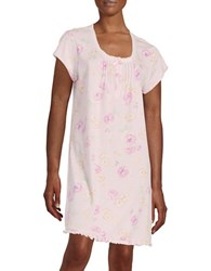 Miss Elaine Floral Nightgown Pink