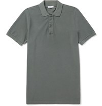 Tomas Maier Slim Fit Cotton Piqua Polo Shirt Gray