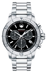 Movado 'Series 800' Chronograph Bracelet Watch 42Mm Regular Retail Price 1195.00 Silver Black