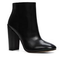 Aldo Aravia Stacked Heel Ankle Boots Black
