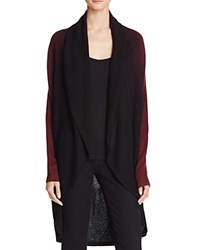 Bloomingdale's C By Draped Dip Dye Cashmere Cardigan Marled Cabernet Black
